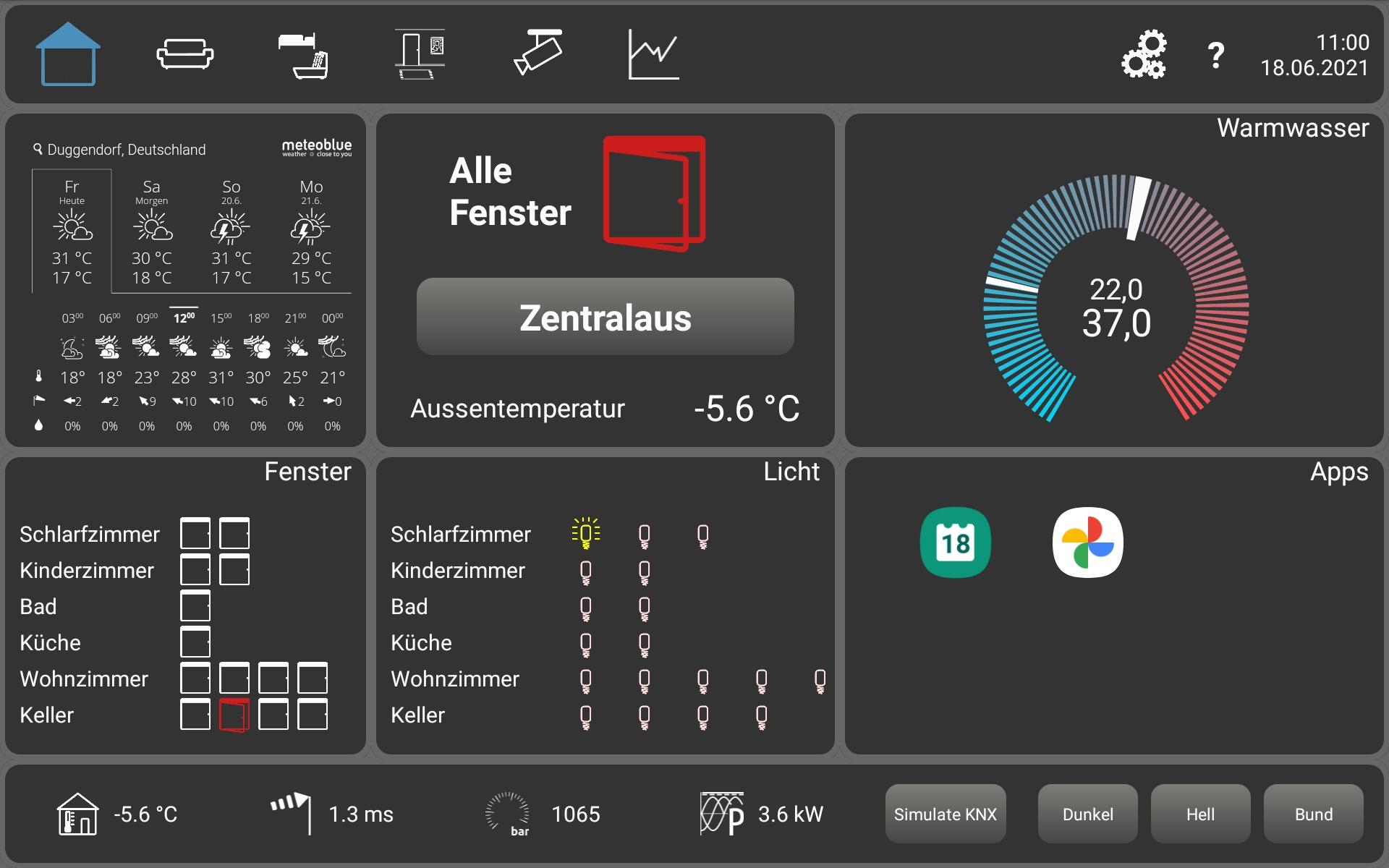 knXpresso Visualisierung für Tablet quer 3