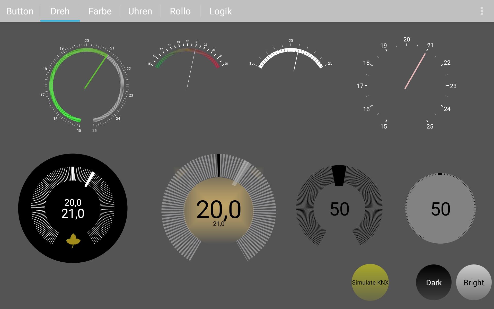 knXpresso Visualisierung für Tablet quer 4